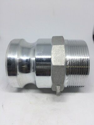 "200-F-AL, 2"" Male Camlock X 2"" Male NPT, Aluminum Cam And Groove Fitting"