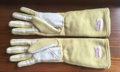 Vintage OMP Nomex Formula 1 Long Gloves Racing Driving Rally Guanti Pilota 80's