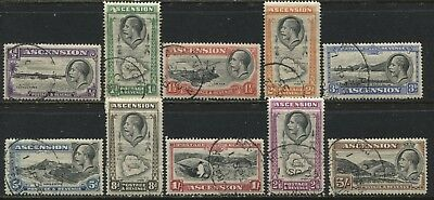 Ascension KGV 1934 complete set to 5/ used