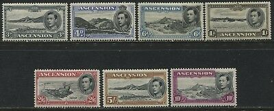 Ascension KGVI 1938-44 3d to 10/ mint o.g.