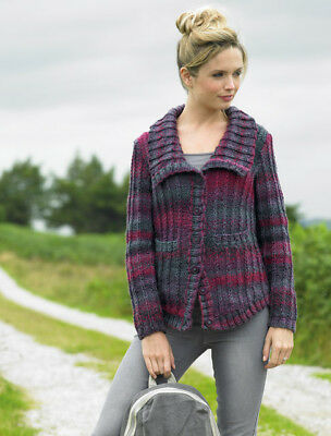knit kit James Brett pattern JB335 and Marble Chunky MC58 yarn and buttons