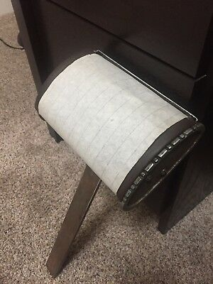 Vintage Koenigkramer Reliance 1940/1950 barber chair headrest with paper roll
