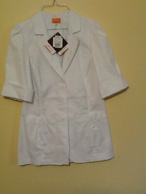 Barco Womens white lab coat Size S