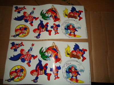 2 Unused Full Sheets  1987 Budman Stickers Very Hard To Find Bud Light Budweiser