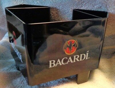 Bacardi Rum Bar Caddy - Napkin, Straw, Swizzel Holder...Classic Style....NEW