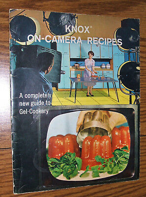 1963 KNOX Gelatin Guide to Gel Cooking  ON-CAMERA RECIPES 48 Page Book