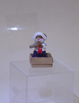 2004 Wee Forest Folk *little Cabin Boy* Mouse Figurine William Peterson
