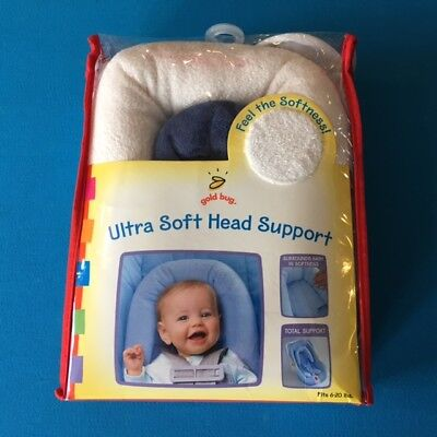 Gold Bug Ultra Soft Head Support in White & Blue fits 6-20 lbs NEW