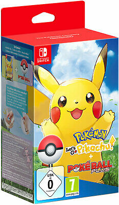 Neu Nintendo Switch Pokémon - Let's Go, Pikachu! + Pokéball Plus 8832037