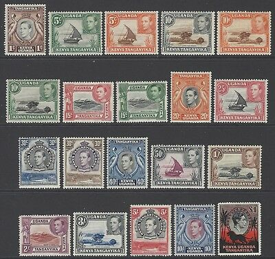 KENYA UGANDA TANGANYIKA KUT 1938 comp set of 20 VF mint MLH SG#131-150b cat £250