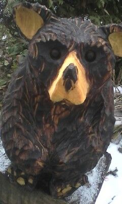 chainsaw carving bear