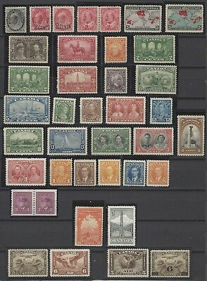 CANADA 1898-1953 early mint stamp collection to $1 w/better items, high CV