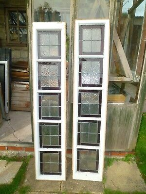 Beautiful 1910's stained glass window panels x 2