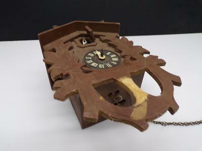 "Cuckoo Clock Co ""100/171"" Brass  Movement in Black Forest Case w/ bird  D330"