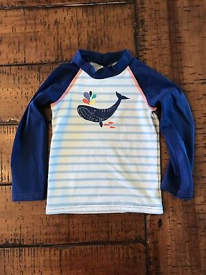 Baby Boden Months Unisex Rash Guard Swim Shirt Top Whale Long Sleeve 18-24 month