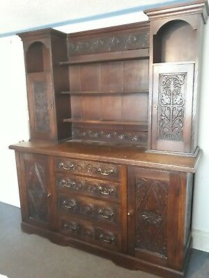 Antique Carved Oak Dresser