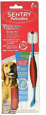 PETRODEX Dental Kit for Dog - Poultry Fresh Mint Dual Toothpaste