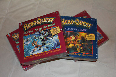 HeroQuest Erweiterung / expansion Barbarian Quest Elf Quest Pack - Flyer/Werbung