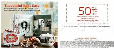 Shutterfly 50% Off Photo Book + 40% Off Everything Else Coupon exp 12/16/2018