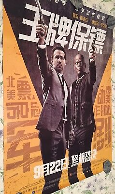 THE HITMAN'S BODYGUARD (2017) Original China 30X42 Movie Poster (Theater Size)