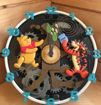 Extremely Rare! Winnie The Pooh & Friends Musical Animated Wall Clock