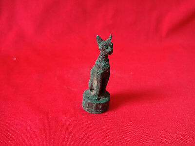 Bast Egyptian Antiques Cat Goddess Figure Bronze Statue
