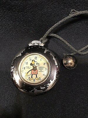 1930's Ingersoll Mickey Mouse Pocket Watch*Working*
