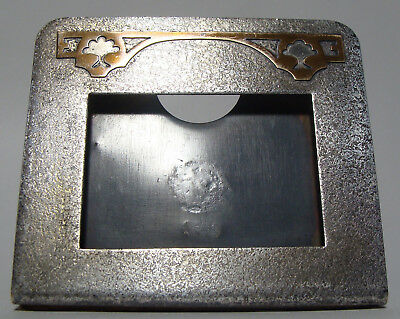 Arts & Crafts Silver Crest Silver Plated Bronze Picture Frame Copper Decoration