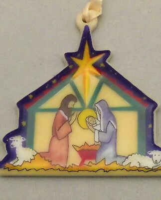 Longaberger Nativity Tie-On~Pottery in Packaging