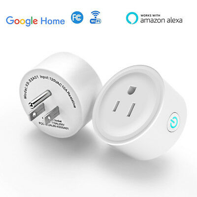 2x WiFi Smart Plug Remote Control Outlet with Alexa & Google Home 2 pack