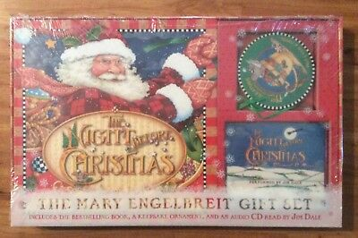 NIB The Night Before Christmas MARY ENGELBREIT Gift Set Book Ornament CD