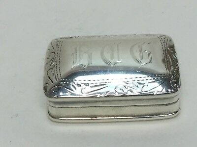 Vintage Sterling Silver Trinket Pill Box Jewelry Ring Ornate 925 Monogramed