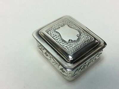 Vintage Sterling Silver Trinket Pill Box Jewelry Ring Ornate Portugal Halmmarked