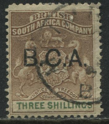 British Central Africa 1891 3/ brown and green used