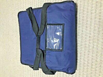 "PIZZA / TAKEAWAY DELIVERY BAG 20""x20""x6"" BLUE EXTRA WARM WITH SUPER INSULATION"