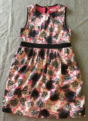 Girl's Juicy Couture Black/pink floral Party/Formal Evening dress Size 8/10