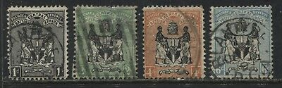 British Central Africa 1896 1d to 6d used
