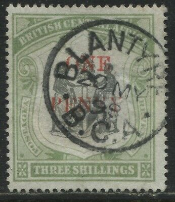 British Central Africa 1897 1d on 3/ CDS used