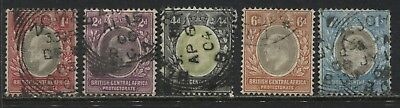 British Central Africa KEVIi 1903 1d to 1/ used