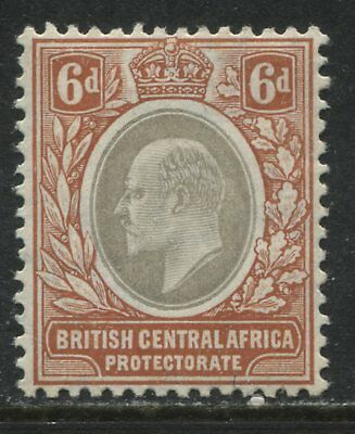 British Central Africa KEVIi 1907 6d mint o.g.