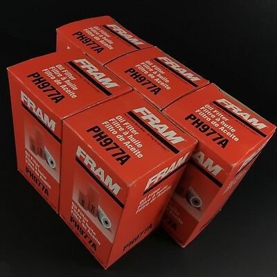 LOT OF 5 Fram PH977A SPIN-ON OIL FILTER FAST FREE SHIPPING!