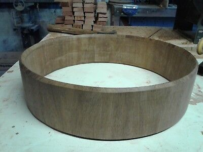 Stave drum piccolo snare shell merbau 14 x 3.5 in size, Tasmanian made