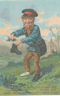 C9659  Victorian Trade Card French Docks Shoes Boots