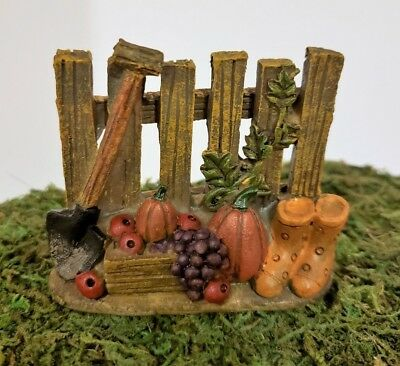 Miniature Dollhouse Fairy Garden Fence Autumn Fall Thanksgiving Halloween