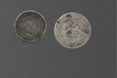1864 Seated Liberty Dime the other i thank 1875