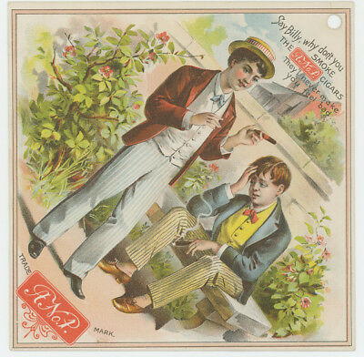 A Number 1 Cigars Store Sign 1880's Trade Card