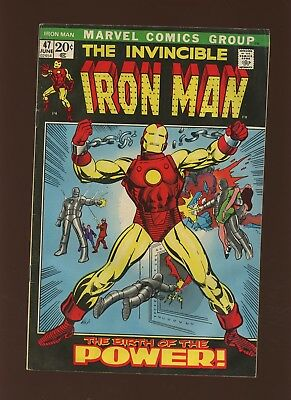 Iron Man 47 VG 4.0 * 1 Book * Marvel! 1968-74! Why Must There Be an Iron Man?