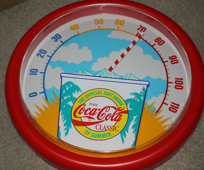 Coca Cola Official Soft Drink of Summer 14 Inch Thermometer