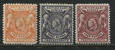 British East Africa QV 1898 2, 3, and 4 rupees mint o.g.