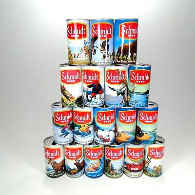 Vintage Schmidt 12oz Beer Cans Lot of 4 Empty - FREE SHIPPING